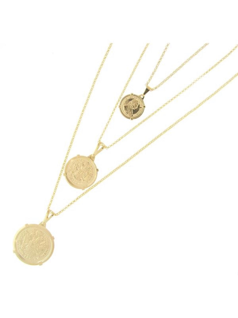 Sahira Emperor Coin Necklace.