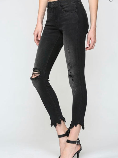 Hidden Midrise Distressed Skinny Jeans