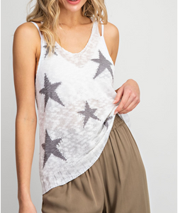 Zoey Star Knit Tank