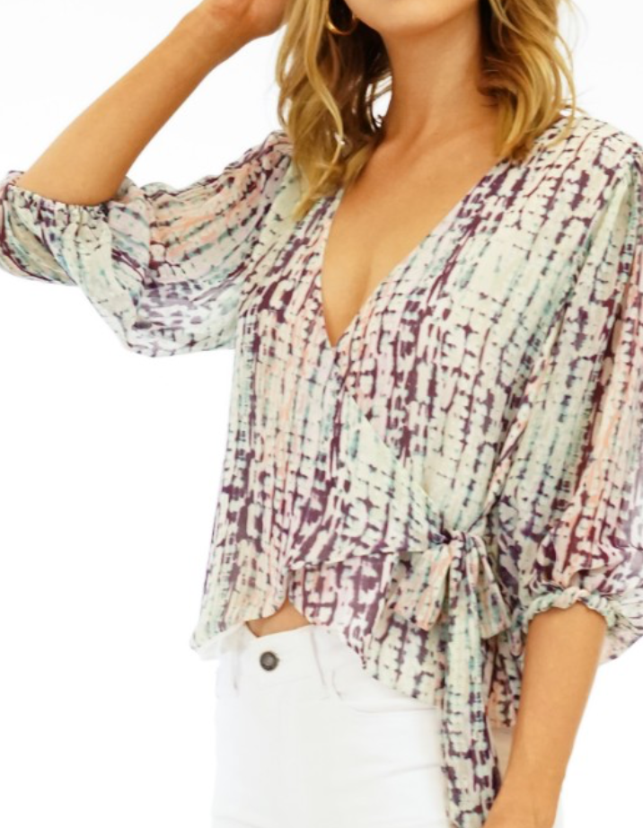 Veronica M Deanna Wrap Blouse