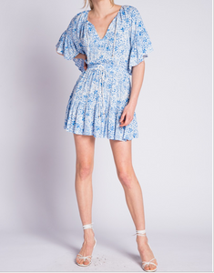 Layla Flutter Sleeve Dress
