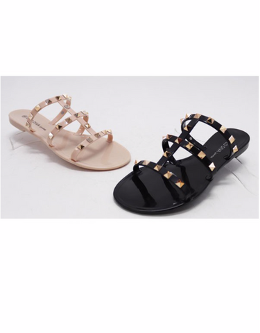 Joanie  Strappy Studded Slide