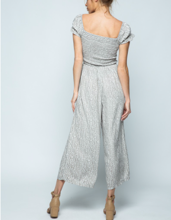 Paris Smock Off Shoulder Jumpsuit