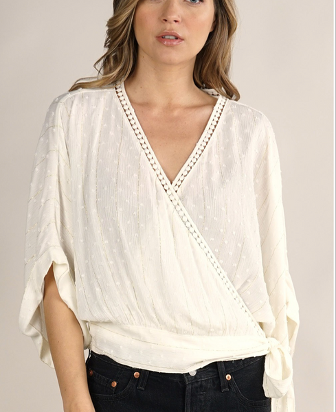 Kim Lurex Wrap Top