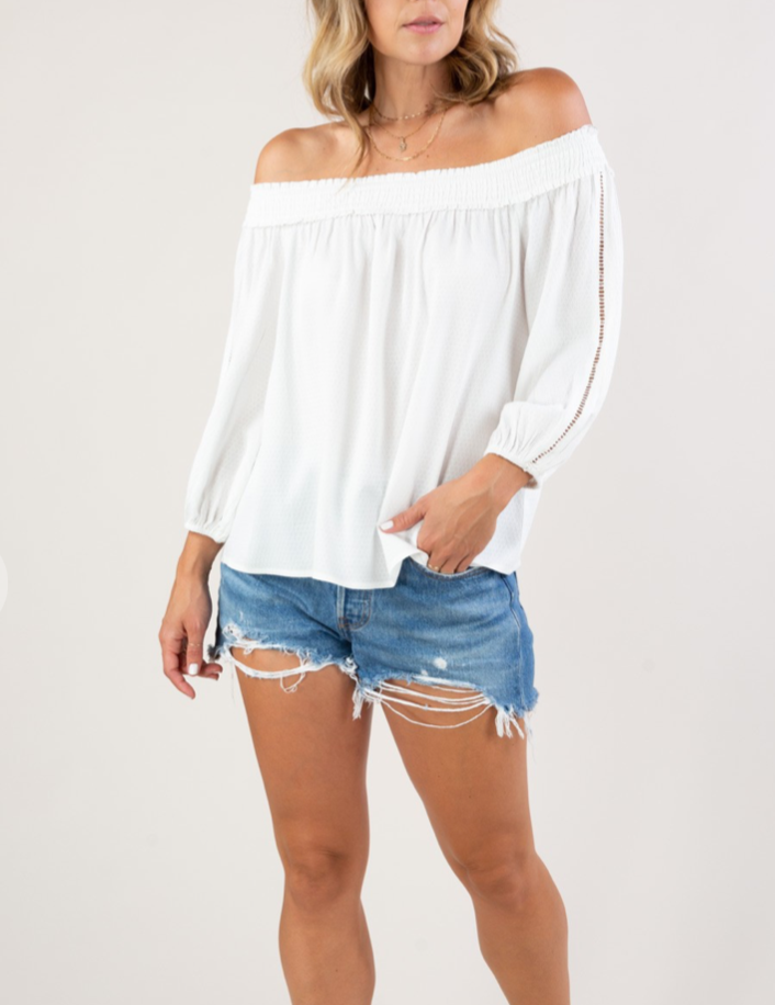 Megan Off Shoulder 3/4 Sleeve Top