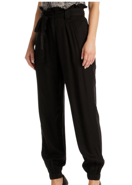 Paperbag Cuffed Belted Pants
