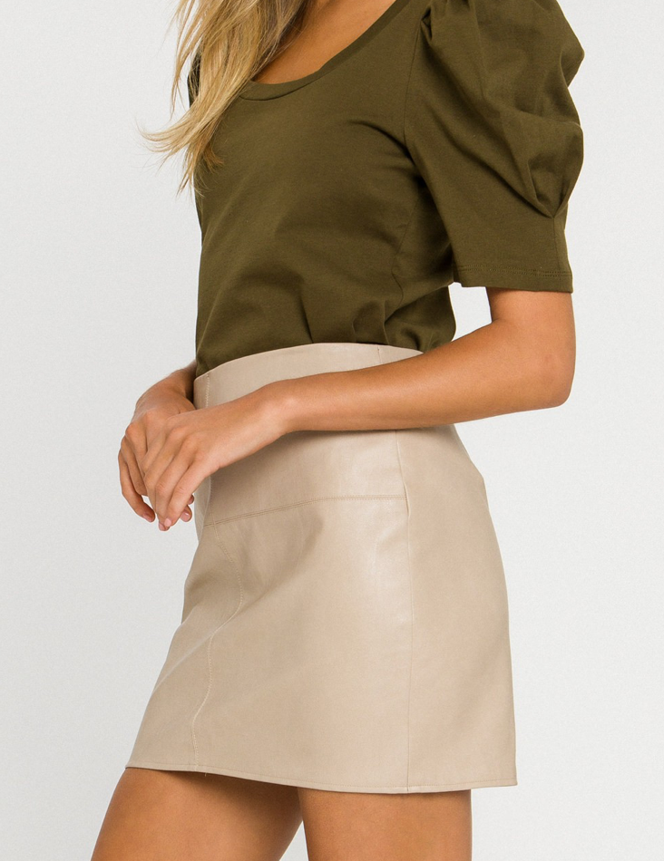 Genevieve Faux Leather Mini Skirt