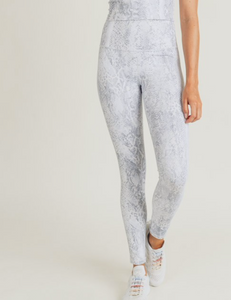 Metallic Foil  Snake Highrise Leggings