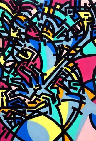 CRAMCEPT COLORFUL GRAFFITI ART NYC CRAM