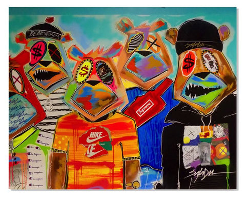 FASHION COLLAB JP THE MONEY BEAR KING SALADEEN ART GRAFFITI