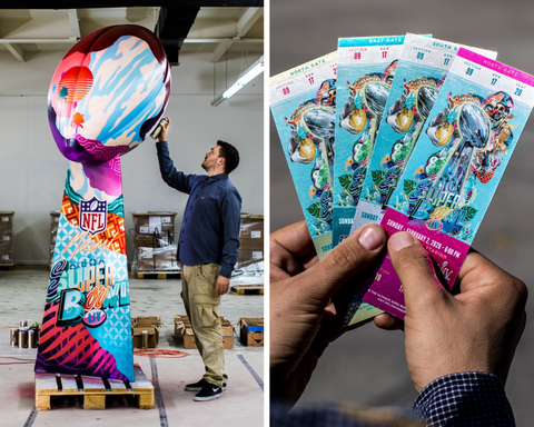 TRISTAN EATON SUPER BOWL 2020 ART