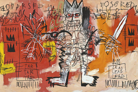 Untitled (Tar Tar Tar, Lead Lead Lead) Jean Michel Basquiat Art Black History Month
