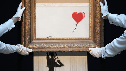 BANKSY'S GIRL WITH BALLOON SHREDDED