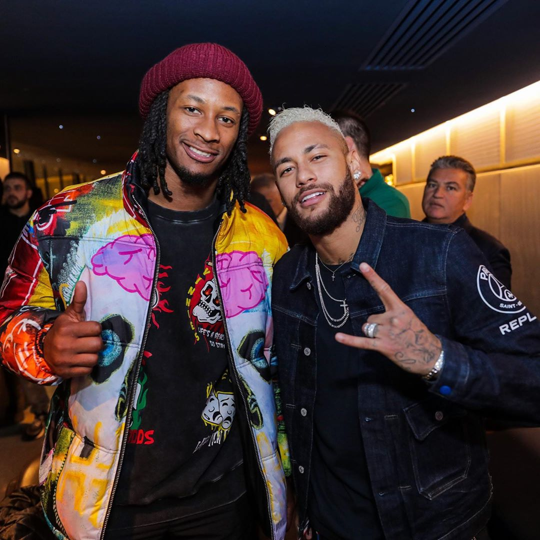 TODD GURLEY AND NEYMAR IN TANGO HOTEL'S I WANT MY ROSES PUFFER JACKET