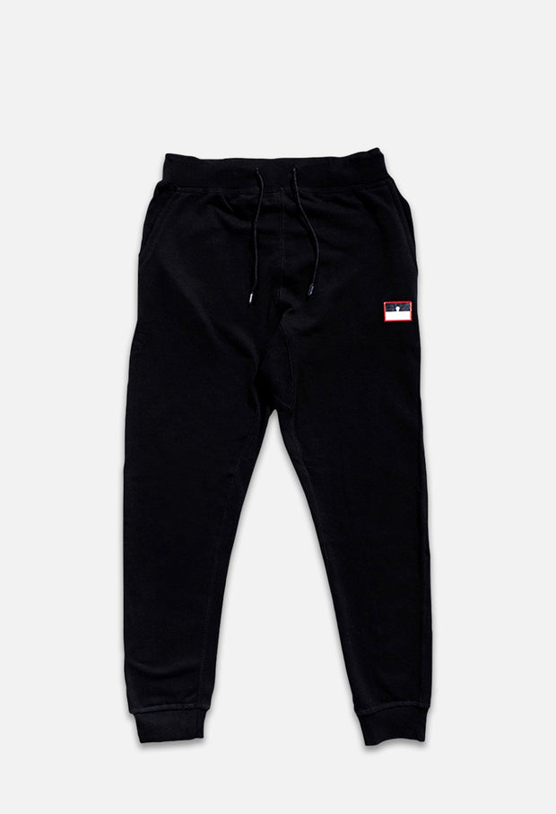 Tango Nostra Black Sweatpants Front View