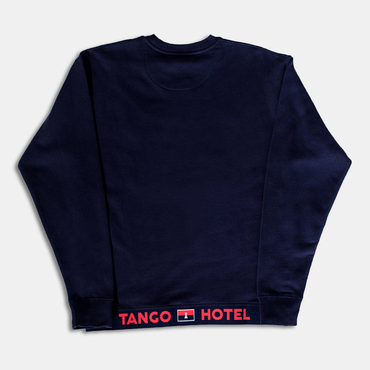 Tango Dugout Crewneck Royal Blue Sweatshirt Back View