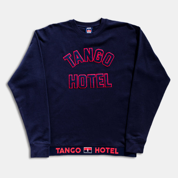 Tango Dugout Crewneck Royal Blue Sweatshirt Front View