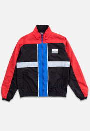 Triblock Track Black/Red Jacket Front View