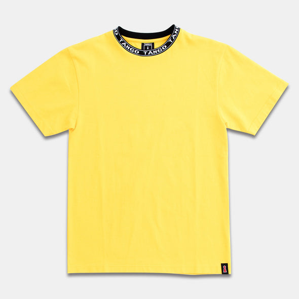 Tango Hotel Yellow Tee with Branded Collar