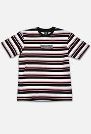 Retro Striped Black/White/Red Tee