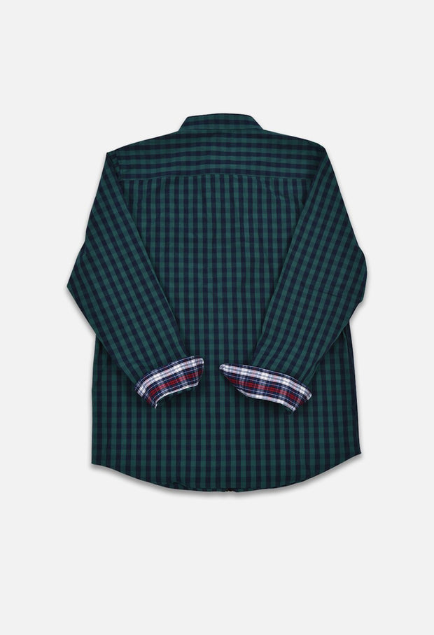 Plaid Tartan Full Zip Shirt