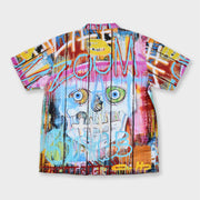 Wearable Art Tango Hotel Skull Fence Cabana Backview Shirt