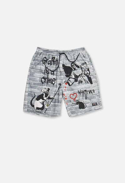 Graffiti Is A Crime Cabana Short
