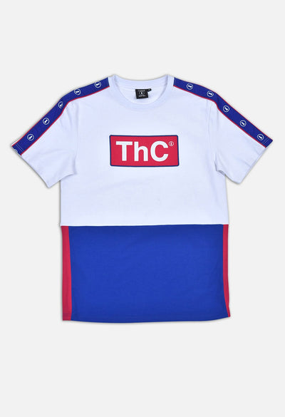 TANGO HOTEL COLLECTION THC WHITE COLOR BLOCK T-SHIRT