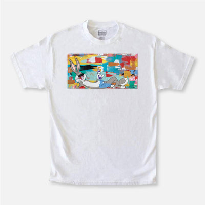 Wearable Art Tango Hotel XXX Drink Bunny White Graphic T-Shirt
