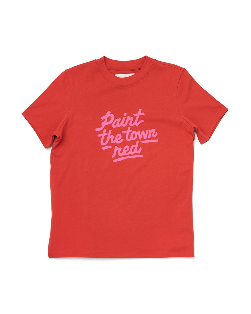 Paint the Town Red Retro Tee