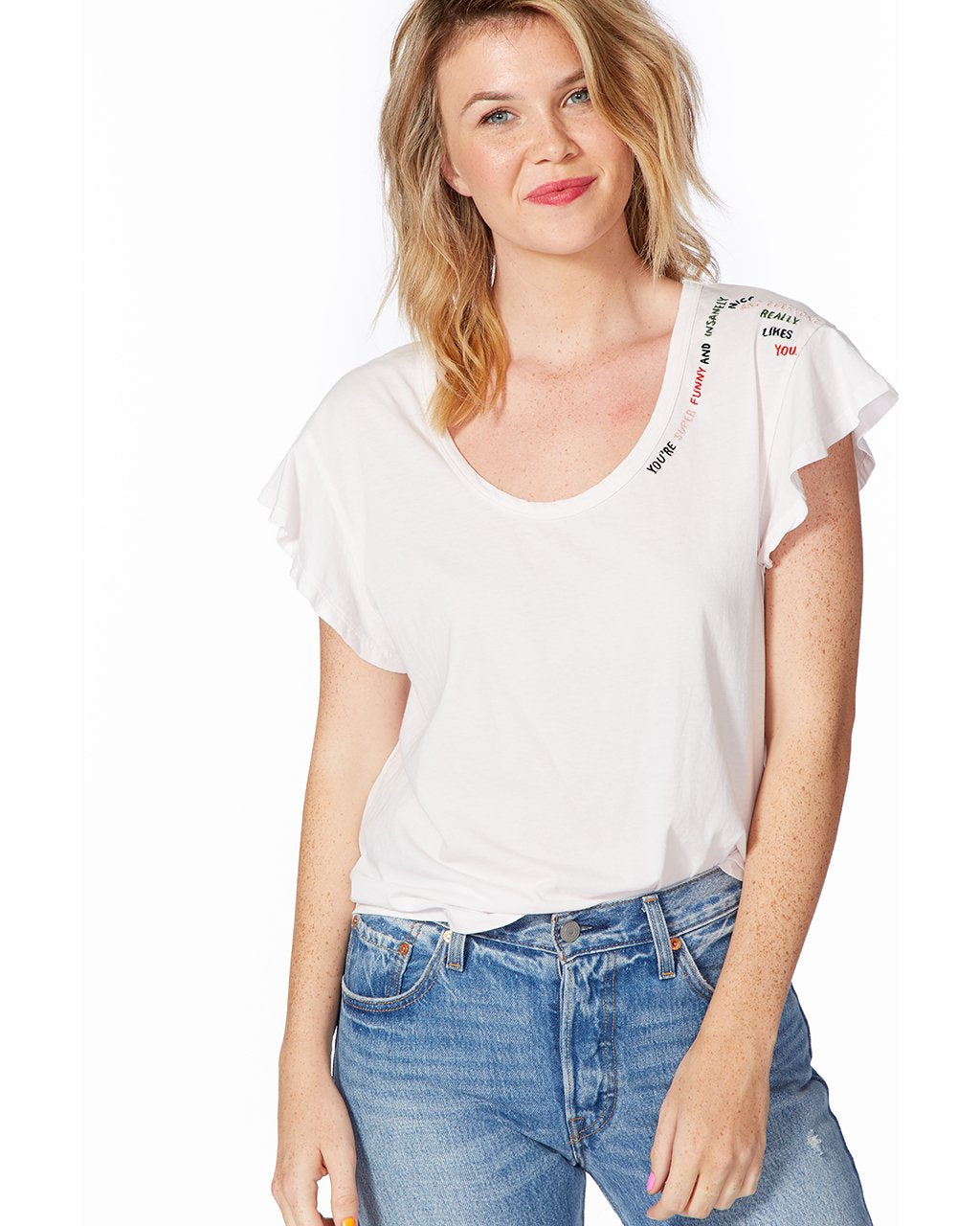 8f4be61bbc3 Compliment Ruffle Tee