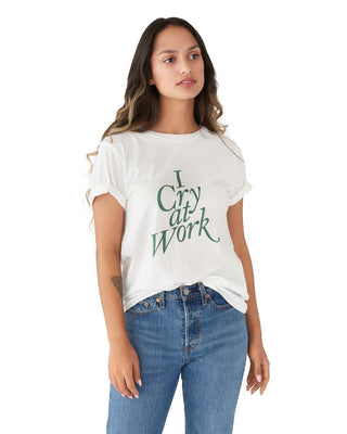 I Cry at Work Tee - Ivory