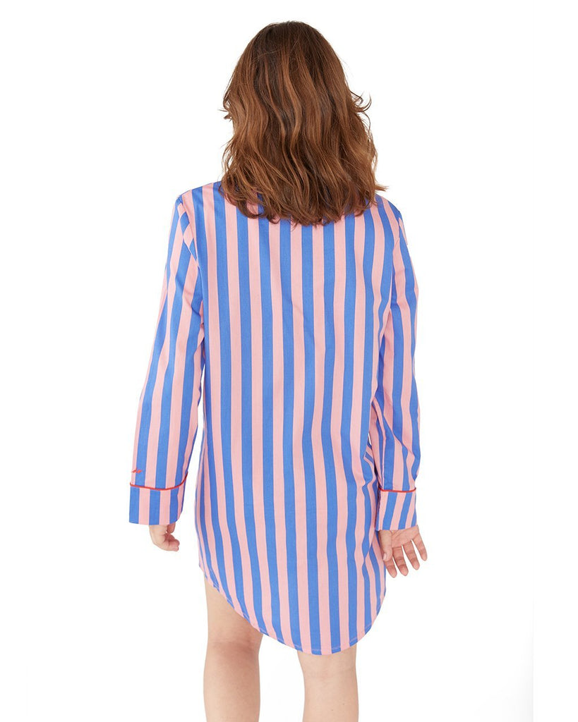 Indigo & Sleepy Pink Sleep Dress