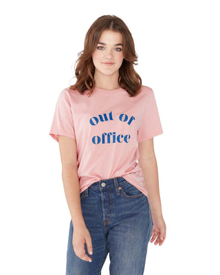 Out Of Office Tee - Cameo Pink