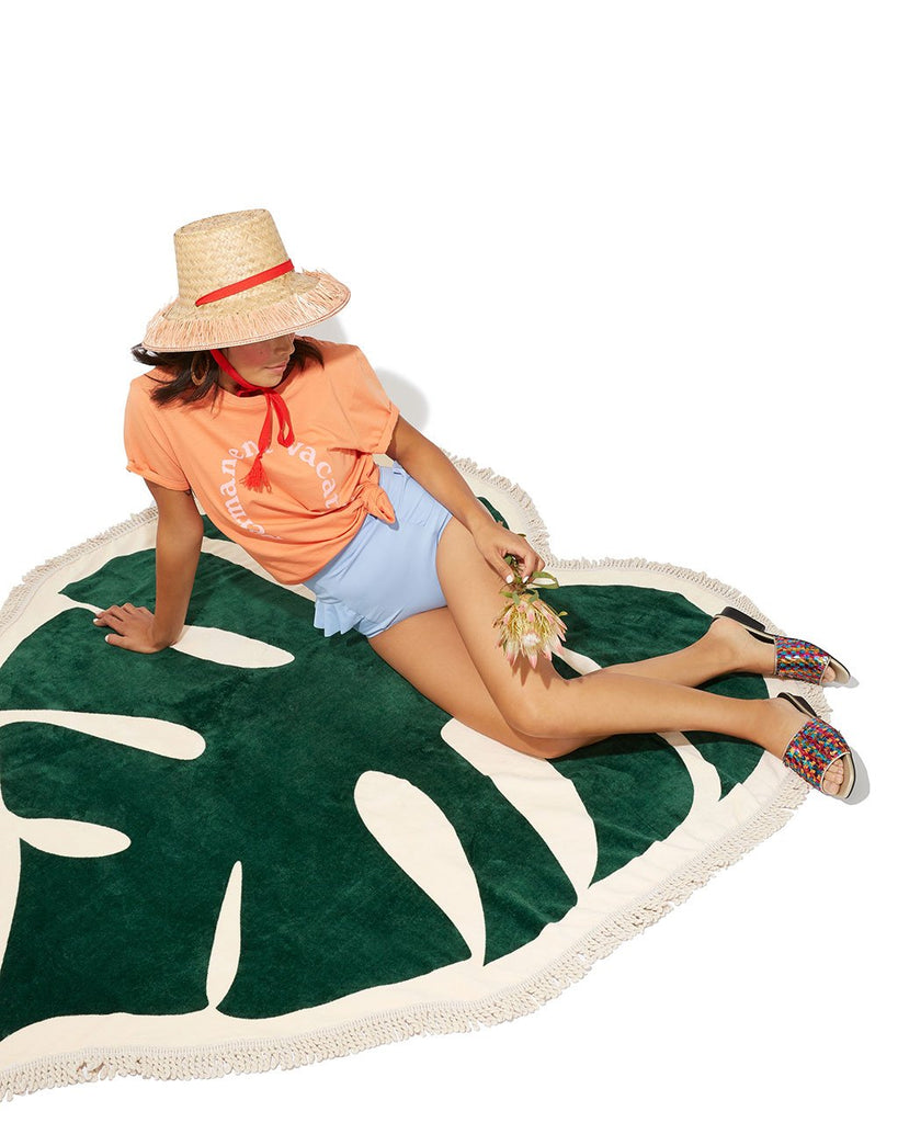 All Around Giant Towel - Monstera