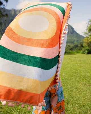 all around giant circle towel - color wheel