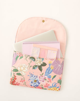logged on laptop sleeve - garden party