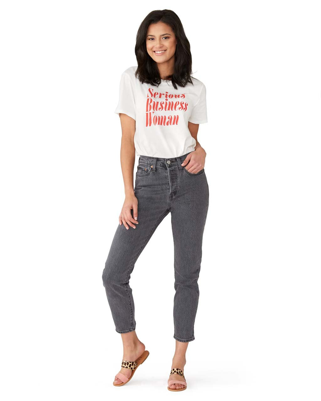 Serious Woman Ivory Serious Tee Business KJc1lF