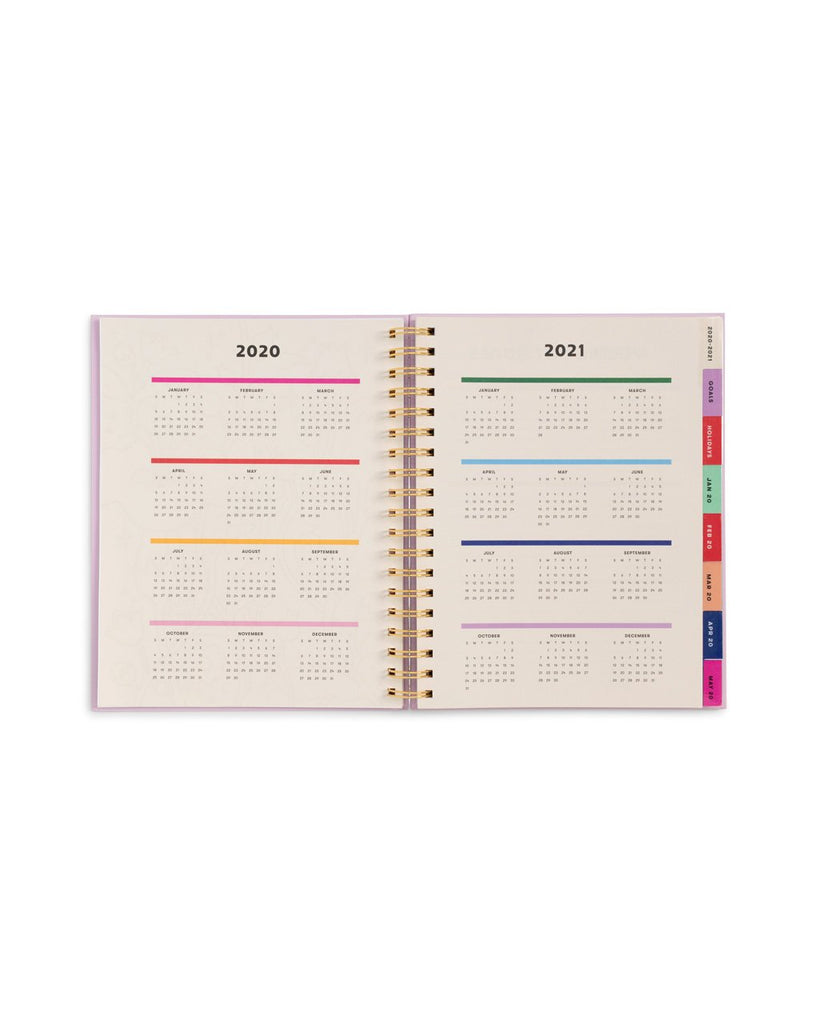 Large 12-Month Annual Planner - Potpourri