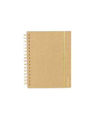 Medium 12-Month Annual Planner - Gold Glitter