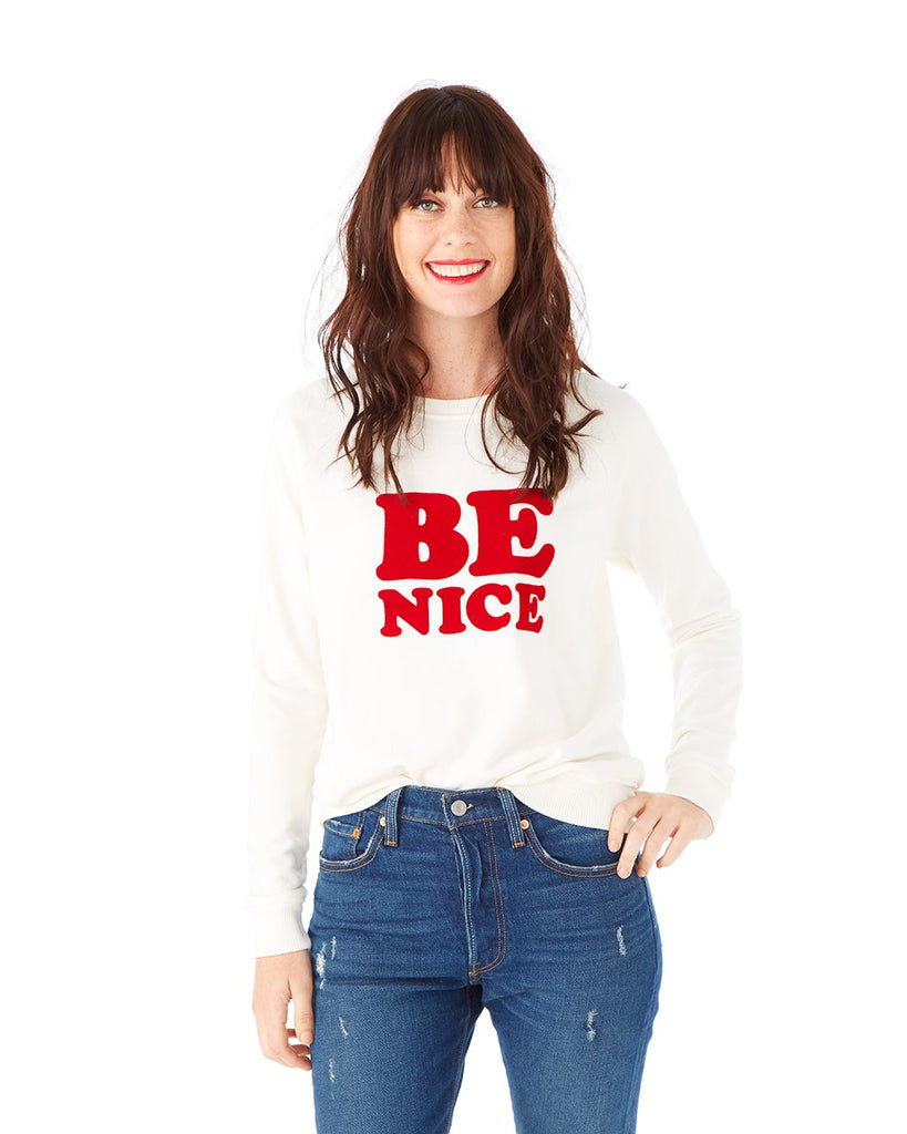 Be Nice Sweatshirt - Ivory