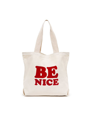 big canvas tote - be nice