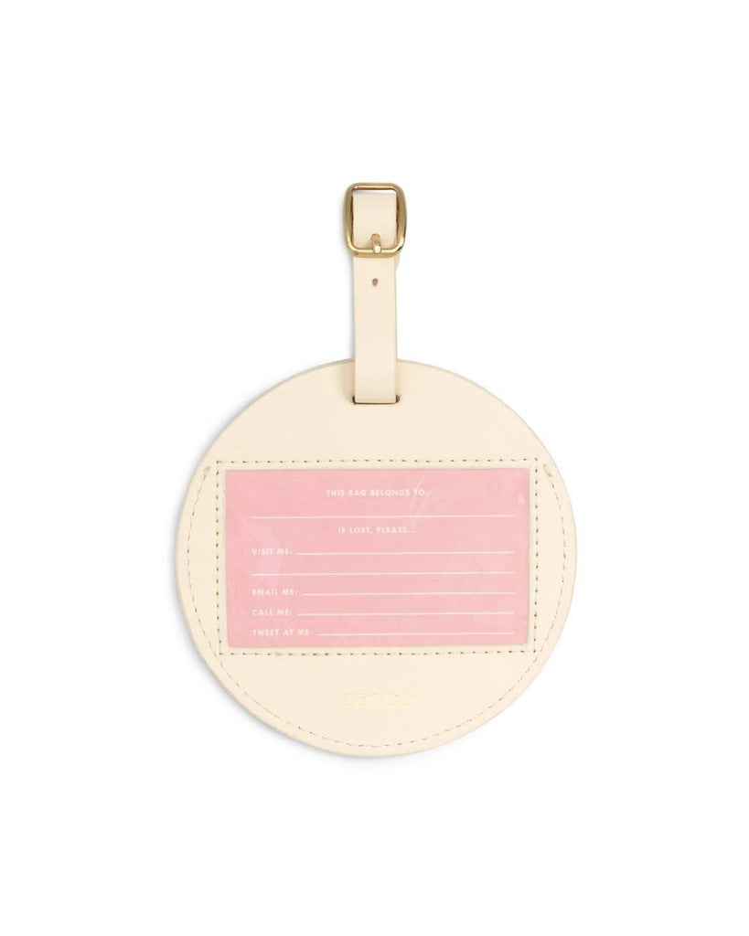 Getaway Round Luggage Tag - Best Time
