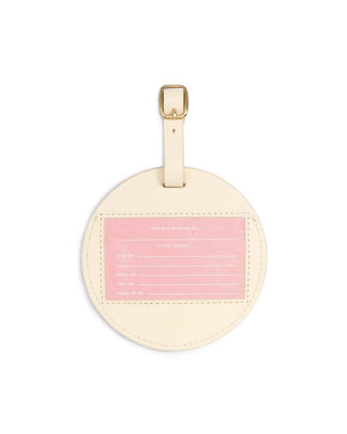 circle luggage tag - best time