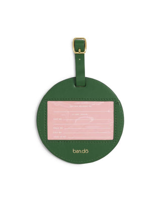 circle luggage tag - watermelon