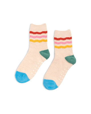 Cozy Grip Socks - Rainbow