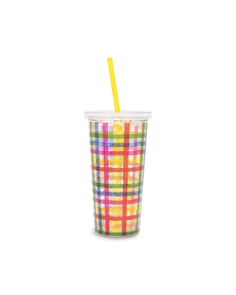 Deluxe Sip Sip Tumbler With Straw - Block Party