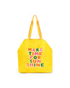 Deluxe Tote Bag - Make Time for Sunshine