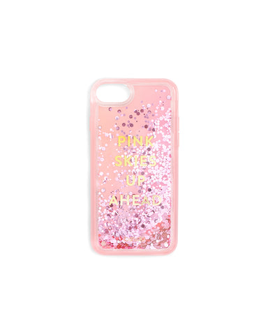 5d51540b83 Glitter Bomb iPhone Case - Pink Skies Up Ahead