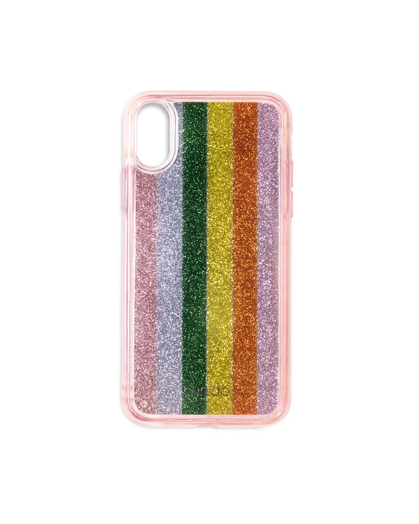 Glitter Bomb iPhone X Case - Color Wheel